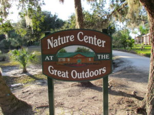TGO Nature,The Great Outdoors RV Nature & Golf Resort, The Great Outdoors, Titusville, Florida, Sign, Entrance